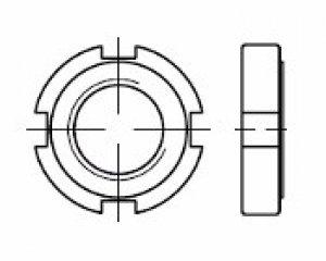 DIN 1804 - Yarıklı Kanca Anahtar Somunu 1