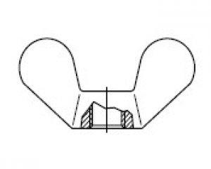 DIN 315 - Kelebek Somun 1