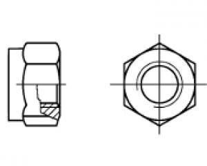 DIN 980 - Altıköşe Metal Sıkmalı Somun 1